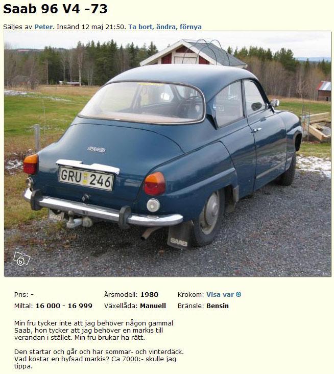 Saab 96 V4 -73