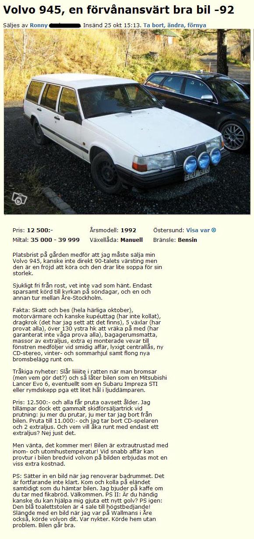 Volvo 945, en förvånansvärt bra bil -92
