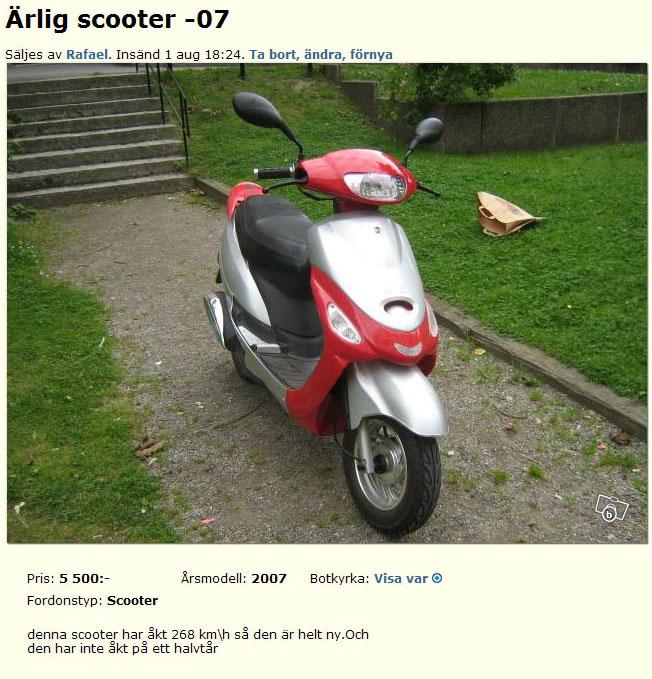 Ärlig scooter -07