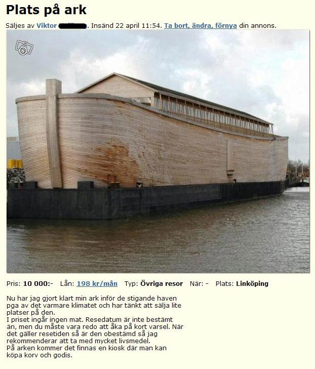 Plats på ark